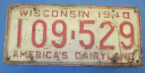 1940 Wisconsin license plate
