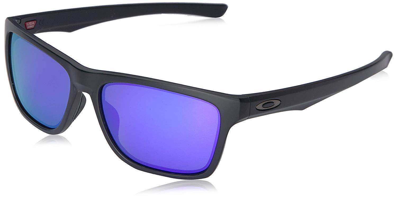 20a6470549 Details about Oakley Holston OO9334-09 Sunglasses Matte Black Violet  Iridium Lens 9334 09