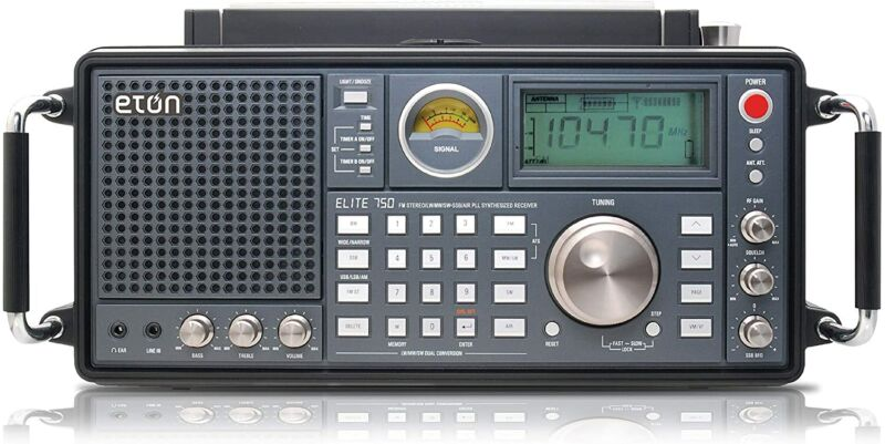 Eton NELITE750 Elite 750 AM/FM/LW/VHF/Shortwave Single Side Band SSB Radio, NEW