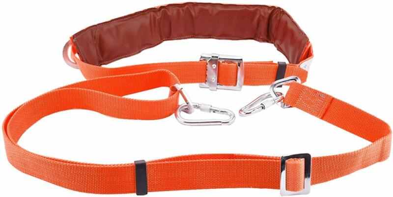 Safety Belt with Adjustable Lanyard Climbing Harness Protective Gear Kit