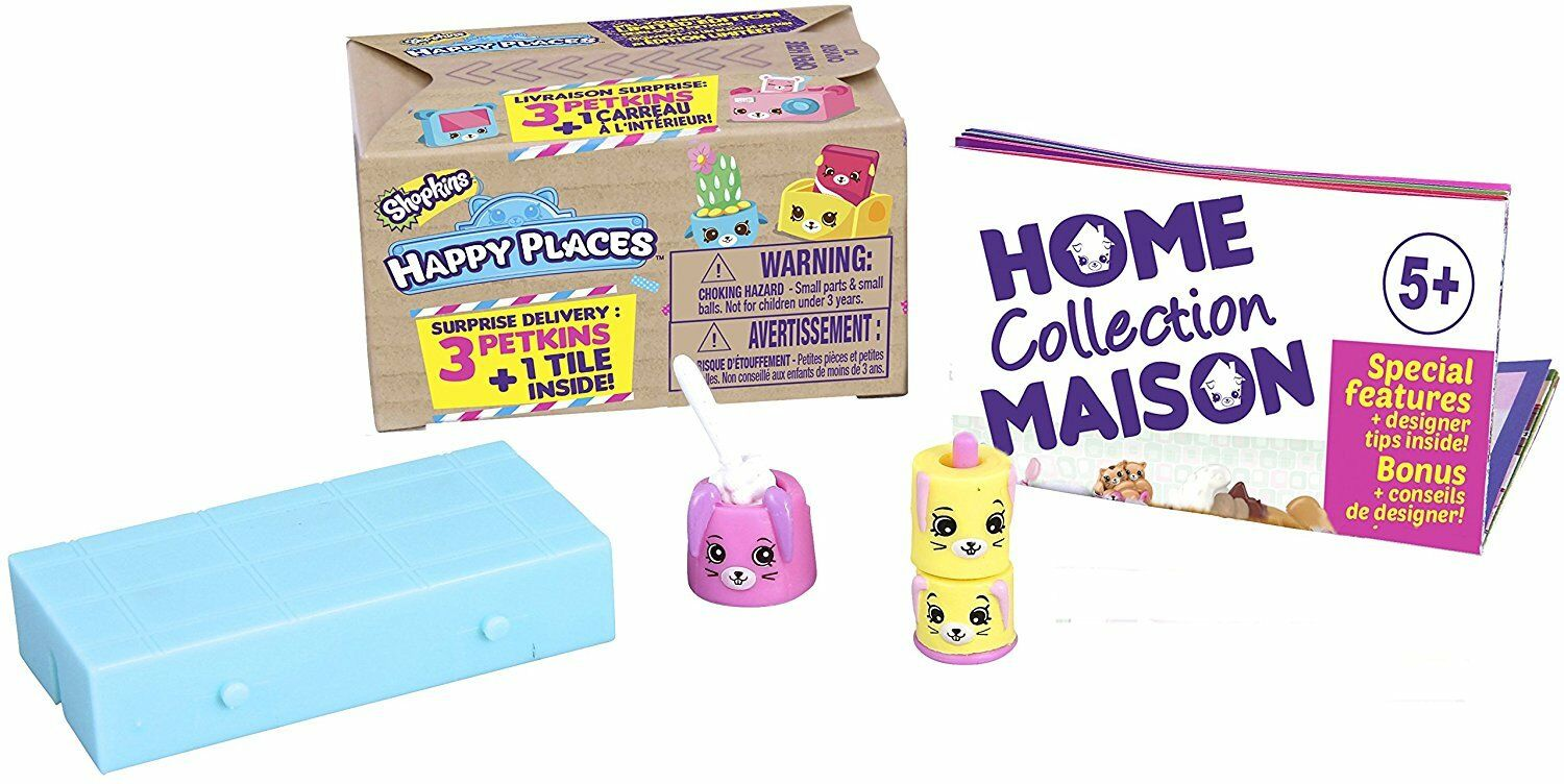 Shopkins Happy Places Delivery Pack Blind Box 3 Petkins & 1