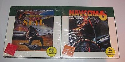"NAVCOM 6 NAVY SEAL GAMES IBM PC COMPATIBLE COSMI 1993 3.5"" DISK NEW SEALED"
