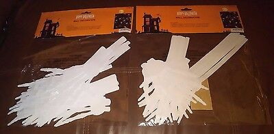 White Skeleton Hands Halloween Wall Decorations - Set of 28 - Halloween Wall Settings