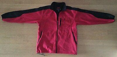 Mens PGA Tour Jacket,M,Full Zip,Red,Black Trim
