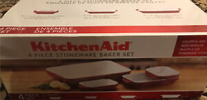 New kitchen aid 4 peice stoneware set