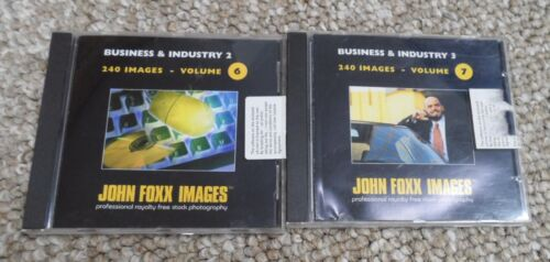 2 CD-ROMs of Royalty Free Photos - Business & Industry 2 & 3. John Foxx Images