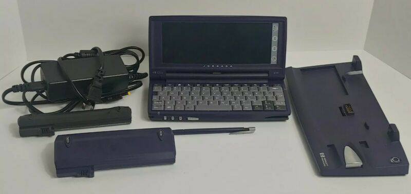 HP Jornada 680 Handheld Laptop Win CE 6.5-in Display w/ accessories bundle lot