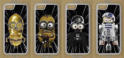 Star Wars Minions Phone Case iPhone 5, 6, 7, SE, XR, XS, 11, Pro, Max, iPod 6,