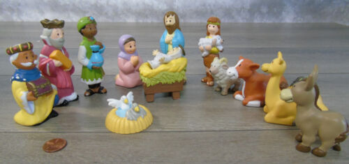 House of Lloyd CHILDS FIRST 1st NATIVITY SET 13pc Christmas Holy Family PVC Toys