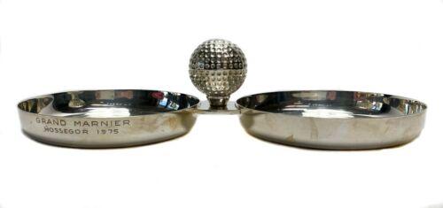 Hermes Paris Silver Plate Golf Ball Ornament Dual Coaster or Desk Ornament c1970