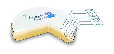 Dental Zirconia Blocksdiscs 98 Mm X 22 Mm High Strength Elegance Premium Tm
