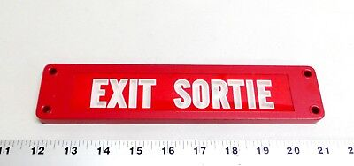 Vintage Nos Exit Sortie Sign U.s. Radium Corp. Isolite Safety Sign