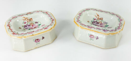 Antique Chinese Export Style Samson Porcelain Open Salts As Is Alexander Hamilto