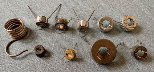 10 Vintage Metal Christmas Tree Ornament Replacement Caps Tops Parts Repair
