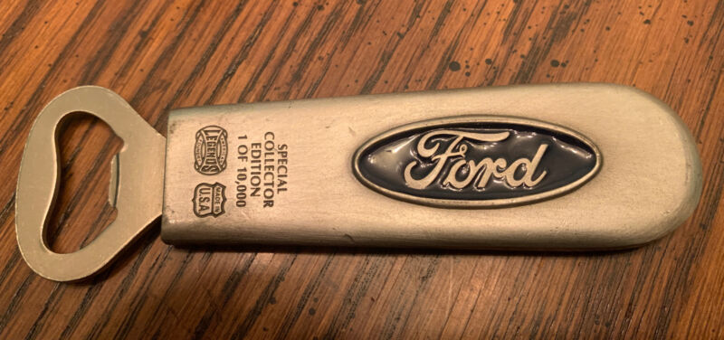 Ford Special Collector Edition Bottle Beer Opener USA American Legends Foundry