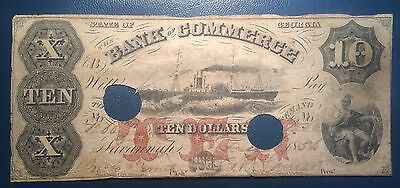 10 1856 Bank Of Commerce State Of Georgia Obsolete Note