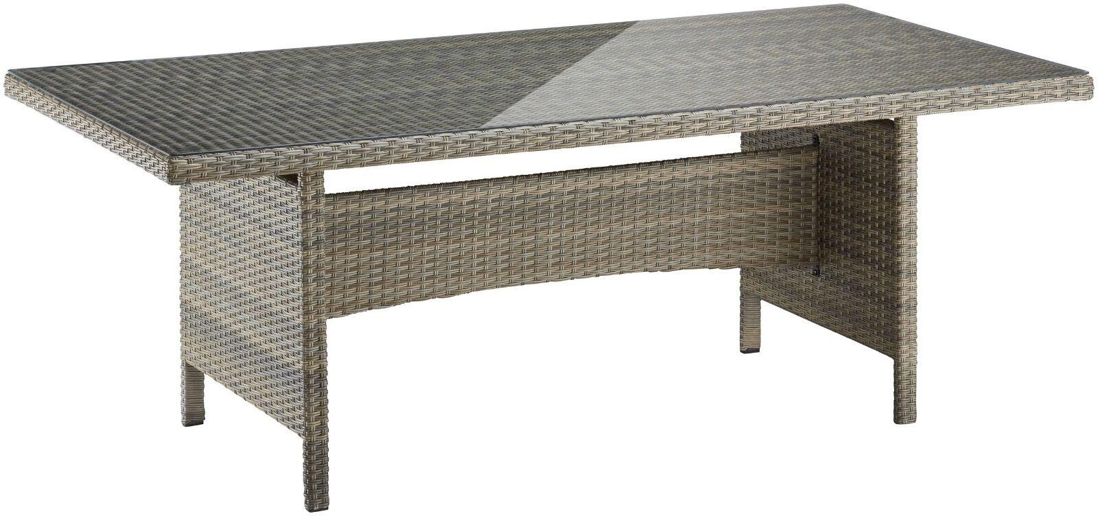 Gartentisch Esstisch Tisch Polyrattan Glasplatte Braun 7150239 Ebay