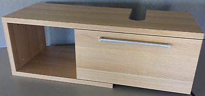 Badschrank für Aufsatzwaschbecken Sonoma 100x34x37 cm Serie LILY aufgebaut