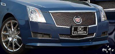 2008-2013 Cadillac CTS Classic 2pc Fine Mesh Grille Black Ice - E&G 1007-B102-08