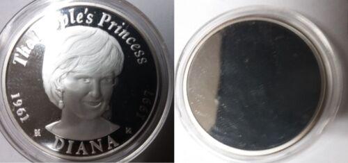 Rare 1997 Zambia 1 OZ Large Silver Proof 200 Kwacha Trial Pattern-Princess Diana