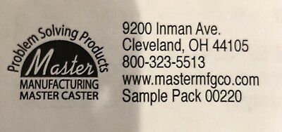 "NEW Master Caster Cord Away 2"" Grommet Plus EXTRAS Sample pack 00220 (4 PC Pack) Master Caster Grommet"