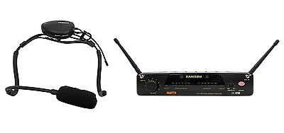 Samson Airline 77 Wireless Fitness Aerobics Headset UHF Microphone Mic System