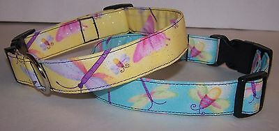 Wet Nose Designs Glimmering Wings Glitter Dog Collar Dragonfly Butterfly - Firefly Wings