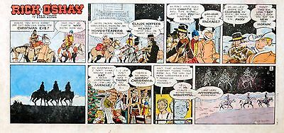 Rick O'Shay by Stan Lynde - full color Sunday comic page - December 20, 1970