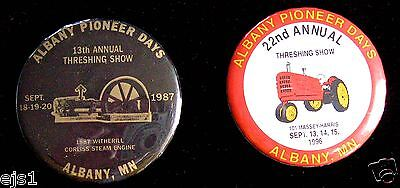 Albany Pioneer Days & Threshing Show Buttons/Pins/Badges/Albany MN/1987, 1996