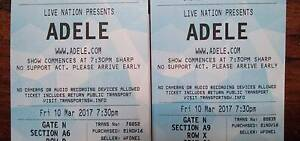 ADELE Sydney 10 March - 2 A reserve floor single tickets Sydney City Inner Sydney Preview