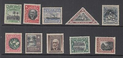 Liberia # 115-24 Mint Complete 1909-12 Set ALL WATERMARKS.