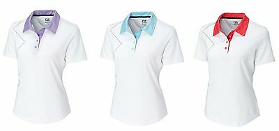 CUTTER & BUCK Womens Ladies Golf CB DryTec NEW PERSPECTIVE Polo Shirt NWT