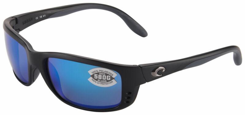 Costa Del Mar ZN11OBMGLP, Polarized Zane Black Blue Mirror 580G Sunglasses