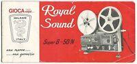 Libretto Istruzioni Royal Sound Super 8 - 50/n_marca Gioca - Ita, Fra, Eng, Deu - super 8 - ebay.it