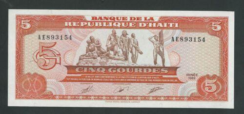 HAITI  5 GOURDES 1989  P- 265  UNC