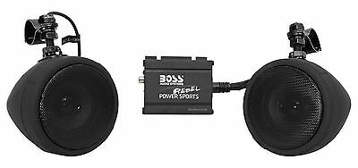 Boss Audio 600w Bluetooth Speakers+Amplifier Handlebar System Motorcycle/ATV/UTV
