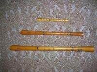 """Flûte à bec ténor en bois, modèle Arte en """"buis"""" brésilien"""