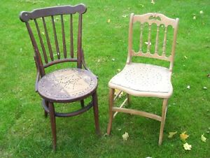 SOLID  ANTIQUE CHAIRS NEED REFINISHED London Ontario image 1