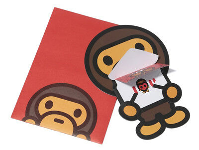 *A BATHING APE Goods BABY MILO STORE MESSAGE CARD Best For Gift Japan