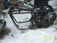 Honda CB750K  wheels forks swingarm handlebars grab bar 78