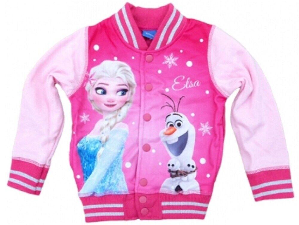 Disney Frozen Jacke Eiskönigin Mädchen Sweatjacke Freizeitjacke