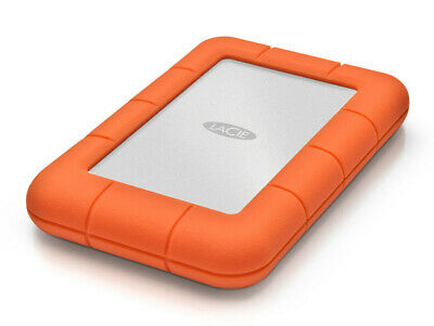 Lacie Mobile (LaCie Rugged Mini, 4TB ext. 6,35 cm Festplatte, USB 3.0, silber-orange)
