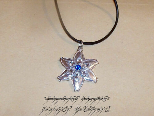 LOTR Lord of the Rings Elven Star Necklace Sterling Silver