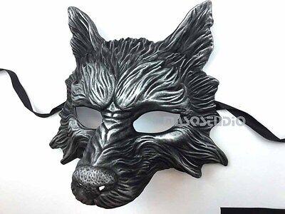 Animal Masquerade ball Wolf mask Burning man Party Halloween costume Wall Deco - Mens Masquerade Ball Costumes