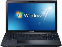 Toshiba C660/ INTEL Dual Core 2.10 GHz/ 4 GB Ram/ 160 GB HDD/ WEBCAM/ Wireless/ WIN 7