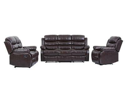 Brown Leather Chaise - New Living Room set ,Loveseat Chaise Reclining Couch,Recliner Sofa Chair Leather