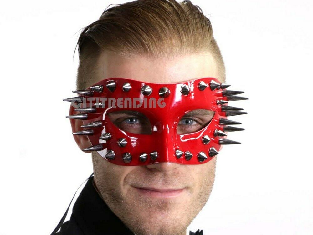 MENS Masquerade Ball Spike Mask Burning Man Coachella Hallow