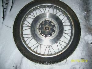 Honda CB750 front wheel rim tire brake rotor brake disc 1978