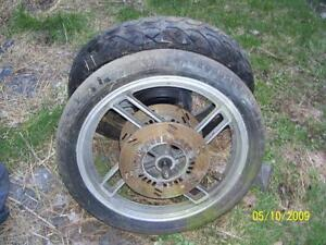 Yamaha Seca turbo 650 front wheel with rotors brake disc