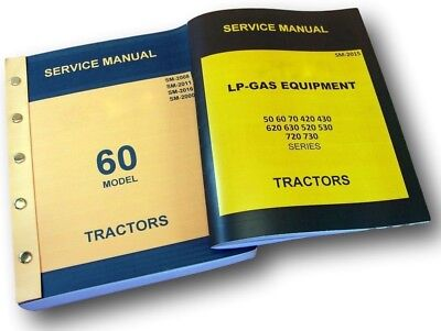 Service Manual For John Deere Tractor 60 620 630 Lp Gas Propane Repair Tech Shop